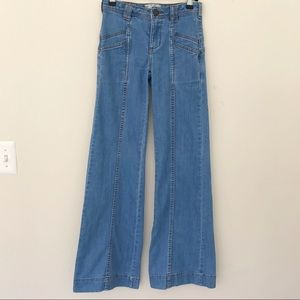 Free People Vintage Looking Flare Jeans